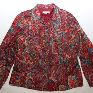 Vintage Hippie Gypsy Paisley Button Up